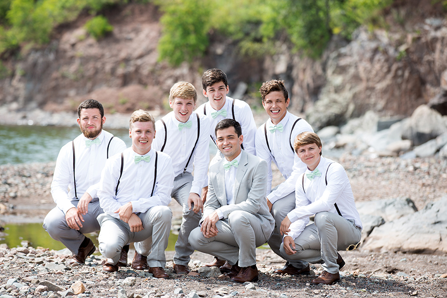 Groomsmen Wedding Photo